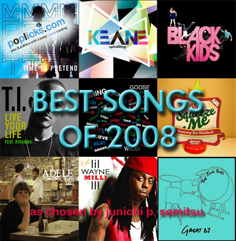 top songs of 2008